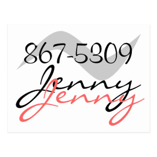 Postal Jenny retra 867-5309 para una buena llamada