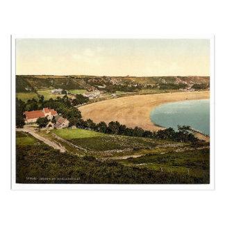 Postal Jersey, bahía de Brelades del santo, isla de
