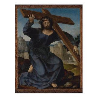Postal Jesucristo con la cruz