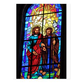 Postal Jesucristo mi vitral del pastor