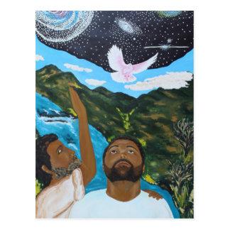 Postal Jesús bautizó