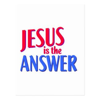 Postal Jesús es la respuesta
