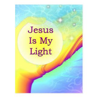Postal Jesús es mi luz