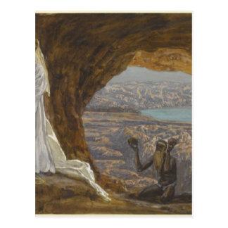 Postal Jesús tentó en desierto