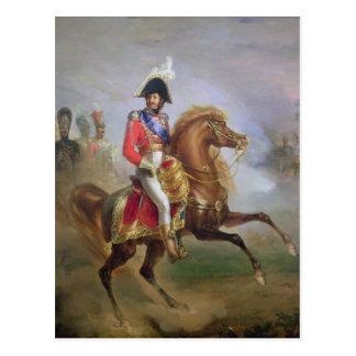 Postal Joaquín Murat a caballo, 1814-15
