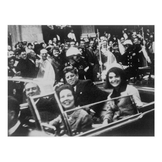 Postal John F. Kennedy desfile de automóviles Dallas
