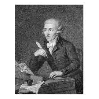 Postal Joseph Haydn grabó por Schiavonnetti, 1792