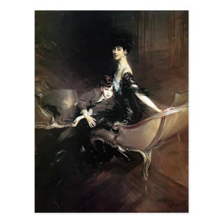 Postal Juan Boldini- Consuelo, duquesa de Marlborough