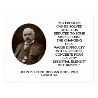Postal Juan Pierpont Morgan ningún problema puede ser