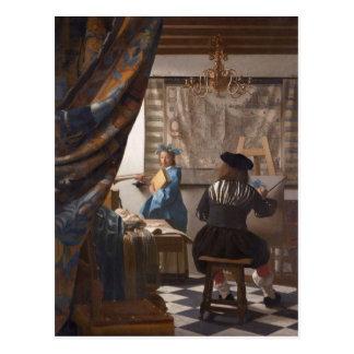 Postal Juan Vermeer - alegoría del arte de la pintura