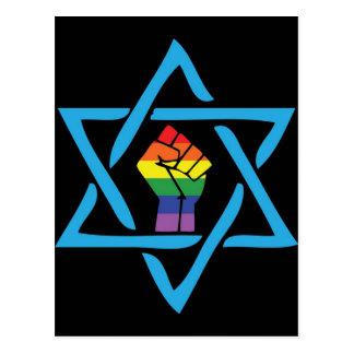 Postal Judío negro gay