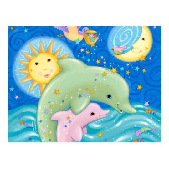Postal Juego de los delfínes
