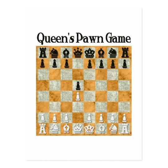 Postal Juego del empeño de la reina