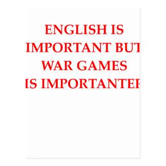 Postal juegos de guerra