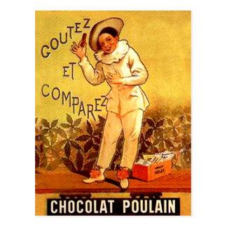 Postal Juegos de sociedad franceses del payaso del