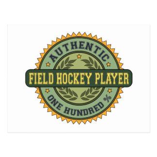 Postal Jugador de hockey hierba auténtico