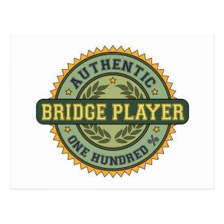 Postal Jugador de puente auténtico