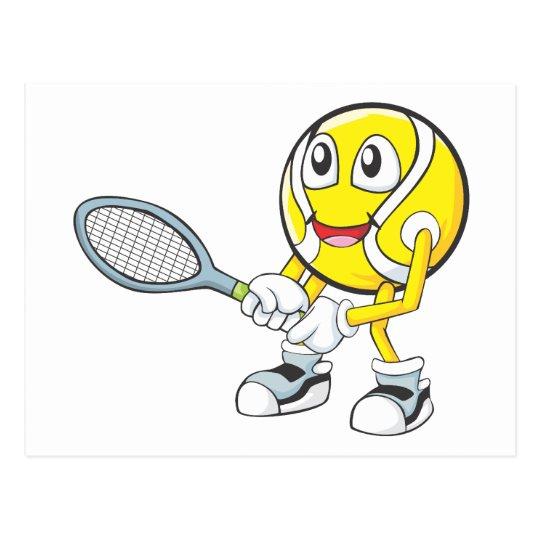 Postal Jugador de tenis feliz