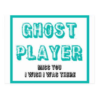 Postal jugador del fantasma del bunco
