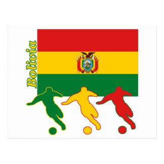 Postal Jugadores de fútbol - Bolivia