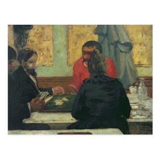 Postal Jugadores de tarjeta, 1883