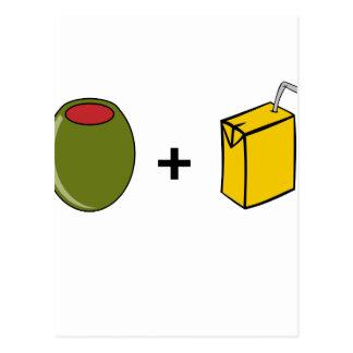 Postal Jugo verde oliva te amo