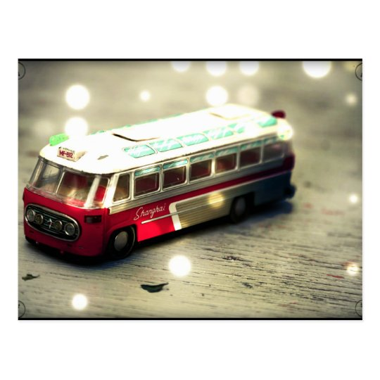 Postal Juguete del autobús del vintage