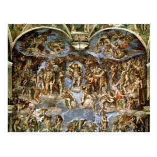 Postal Juicio pasado, de la capilla de Sistine, 1538-41