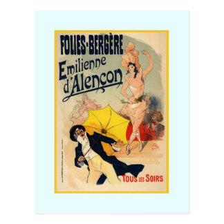 Postal Julio Chéret, anuncio, 1890