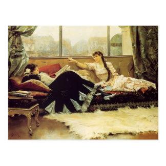 Postal Julio Stewart-Sarah Bernhardt y Christine Nilsson