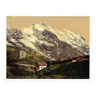 Postal Jungfrau y Scheidegg, Bernese Oberland, Switzerl