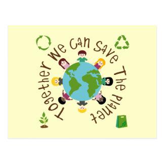 Postal Juntos podemos ahorrar el planeta
