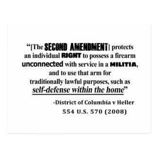 Postal Jurisprudencia de la enmienda de DC v Heller en