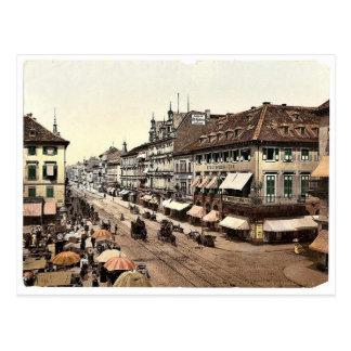 Postal Kaiser Strasse, Karlsruhe, Baden, obra clásica de