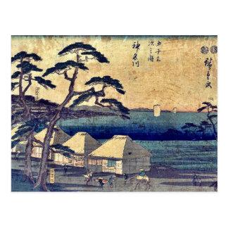 Postal Kanagawa Ukiyo-e.