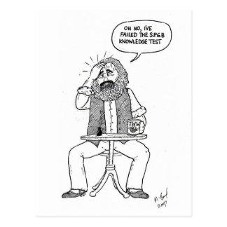 Postal Karl Marx que falla en la prueba de SPGB