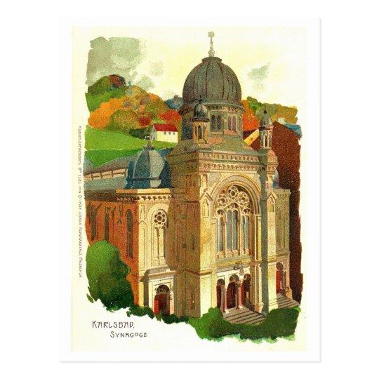 Postal Karlovy varía la sinagoga (de Karlsbad)