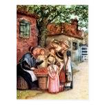 Postal Kate Greenaway: La mujer de la cereza