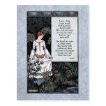 "Postal Keats ""postal de la dama"" Victorian de la belleza"