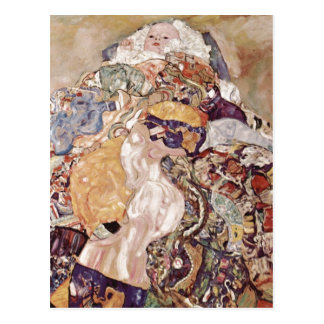 Postal ¿Klimt, bebé del bebé de Gustavo (cuna) Espa? ol: