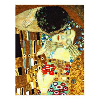 Postal Klimt - el beso