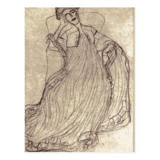 Postal ¿Klimt sumario, Gustavo Studie f? ¿gema de r das?