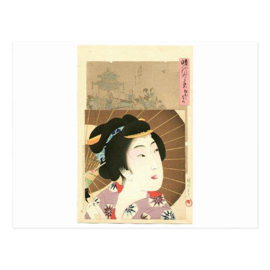 Postal Kouka - Jidai Kagami de Toyohara Chikanobu