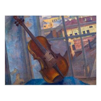 Postal Kuzma Petrov-Vodkin - un violín