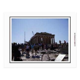 Postal La acrópolis en Atenas, Grecia