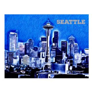 Postal La aguja del espacio - Seattle, Washington