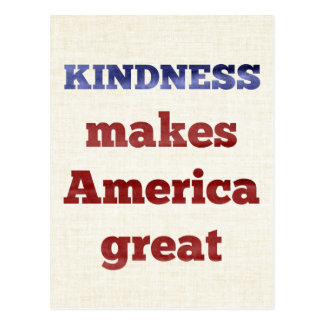 Postal La amabilidad hace América grande