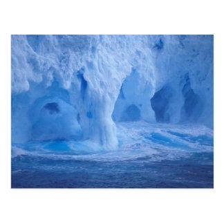 Postal La Antártida. Iceberg con las ondas de fractura