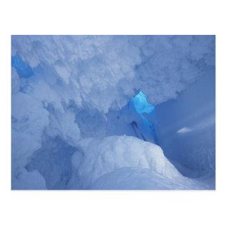 Postal La Antártida, isla de Ross, cabo Evans, cueva de