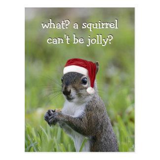 Postal La ardilla de Santa PUEDE ser este alegre navidad…